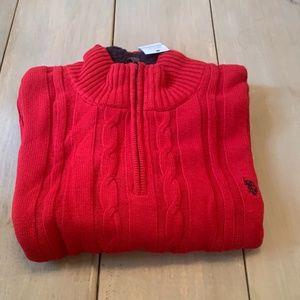 US Polo Assn. Qtr. Zip Pullover Sweater Mens XXL